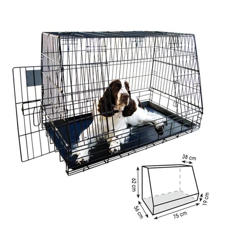 Jaula para perro plegable 77cm adaptada a porton trasero for Jaulas de perros