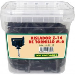Aislador Z-14 tornillo M-6-metal. Cubilete 100 unidades