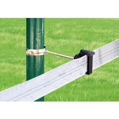 Aislador Z-69 tirafondo separador 10 cms tubo regulable-metal.