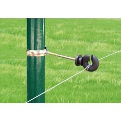 Aislador Z-68 tirafondo separador 10cms con tubo regulable-metal