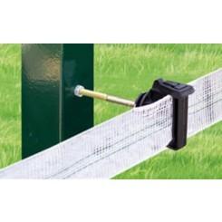 Aislador Z-73 tirafondo separador 10cms con tornillo-metal