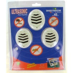 Repelente ultrasonido hasta 45 metros pack de 3 unids
