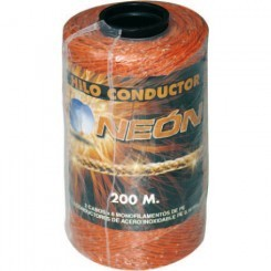 Hilo conductor 3 hilos naranja NEON