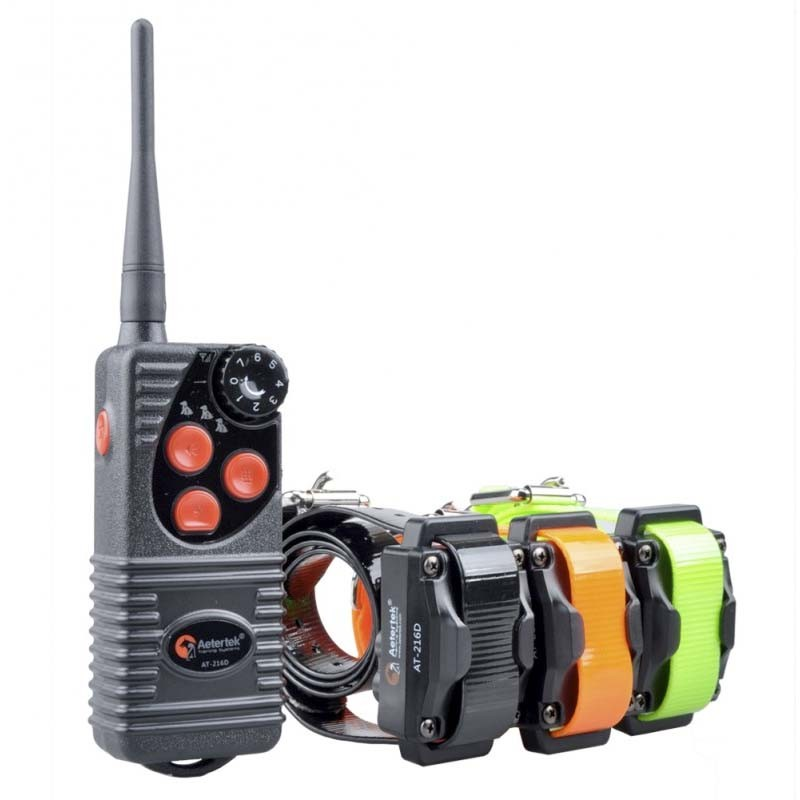 Aetertek AT 216D para Tres Perros, Collar Adiestramiento 500m Sumergible