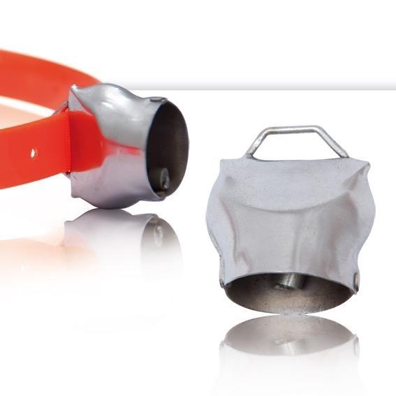 Campana suiza 3cm cencerro hierro y níquel-cromo plateado localización de perros