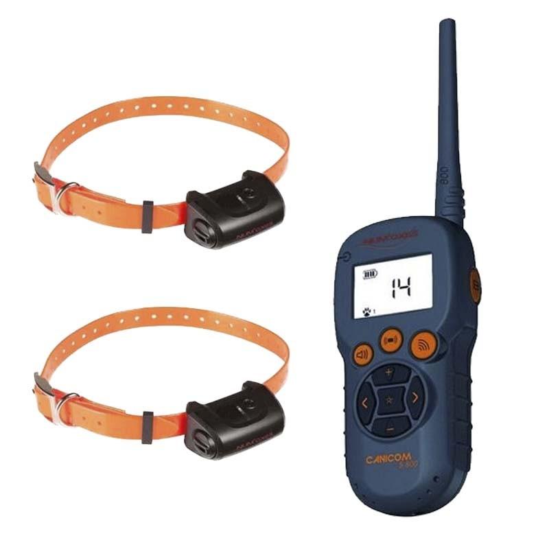 Collar adiestramiento dos perros Canicom 5.800 numaxes 800m