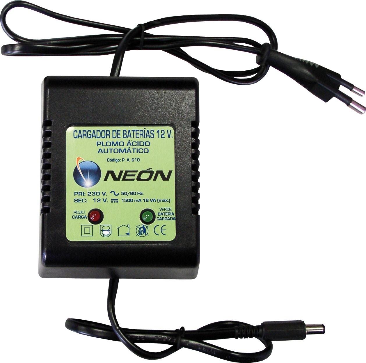 Cargador de baterías Z-100 para la carga de baterías ácido plomo herméticas 12v.3a/h