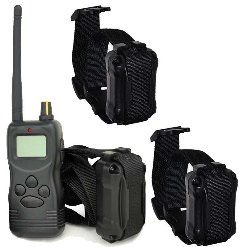 Collar adiestramiento para tres perros Dogsafe LCD 1000 Metros | collar adiestramiento para tres perros de caza