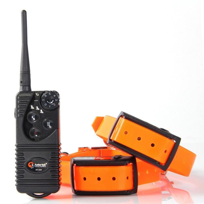 Collar Adiestramiento Profesional Aetertek 216S Sumergible Para 2 Perros