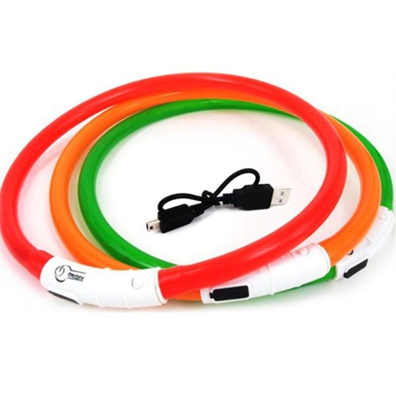 Collar para perros LUZ LED USB Seecurity alta visivilidad localización noche 500m, comprar collar luz led perro, collar luminoso perros, collar perros nocturno, collar seguridad perro