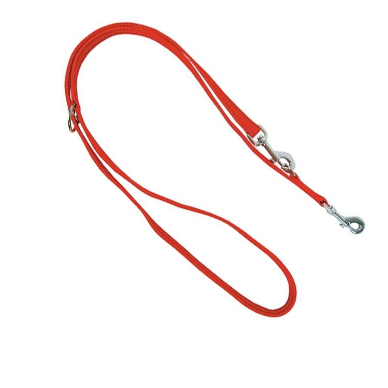 Correa adiestramiento nylon resistente reflectante doble mosquetón, comprar correa adiestramiento nylon.