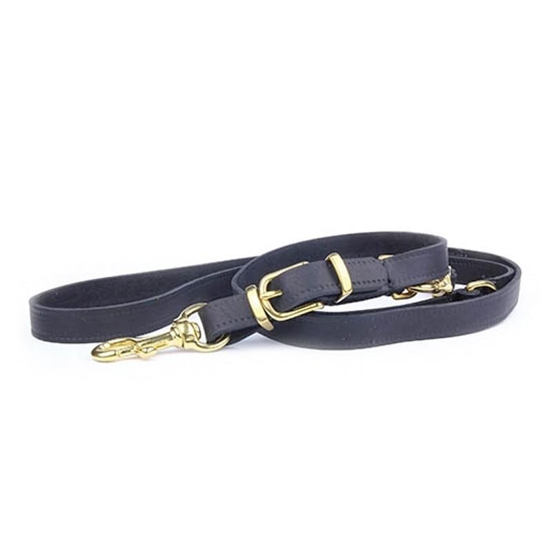 Correa Piel Gold Brass adiestramiento perros 220 cm, correa para entrenamiento perros, comprar correa adiestramiento piel