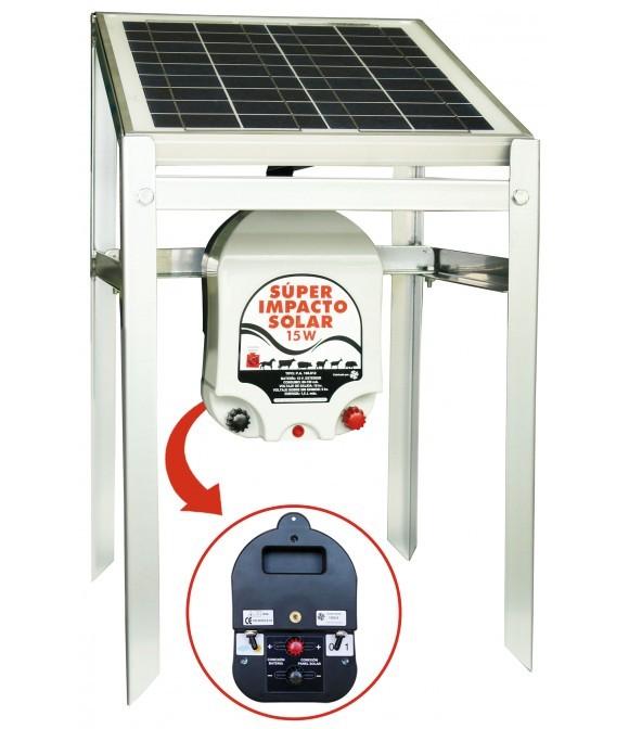 Electrificador Super-Impacto-Solar 25 W a batería exterior