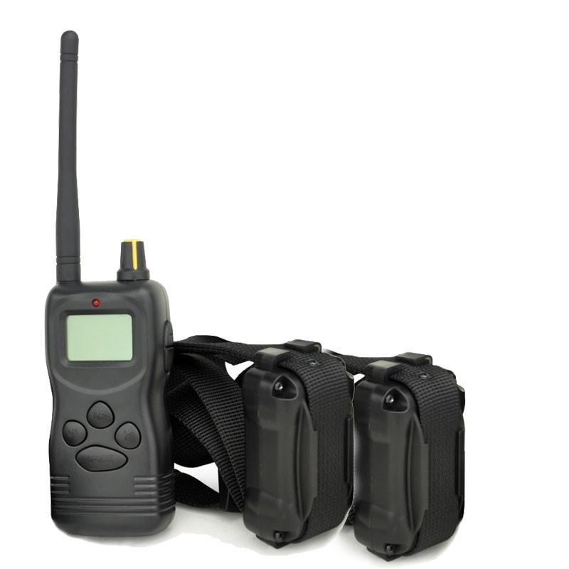 etrainer PET9002 E-Collar adiestramiento dos perros 1000m Alcance | Collar adiestramiento doble