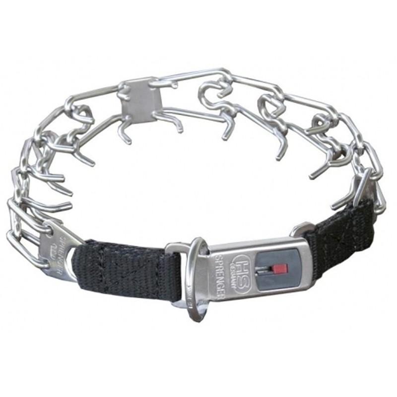 """Hs Sprenger Collar pinchos acero inoxidable cierre """"Click Lock"""" collar castigo púas adiestramiento, comprar collar castigo para perro, collar adiestramiento puas"""