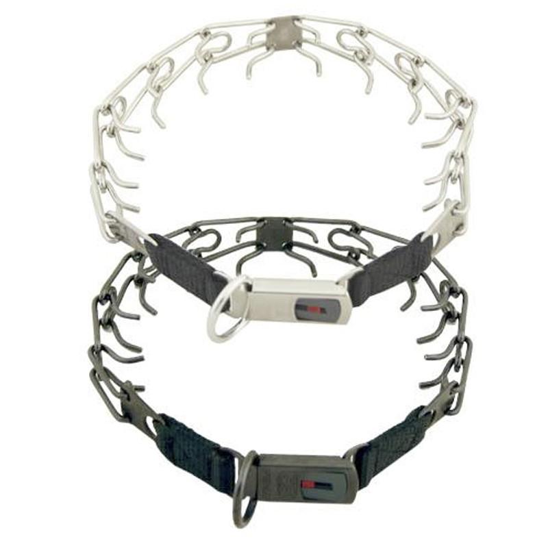 Hs Sprenger Ultra Plus Collar adiestramiento acero cierre Clicklock, collar entrenamiento pinchos, collar acero para entrenar perros, comprar collar acero para adiestrar perros