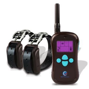 Petinccn P680 2 perros Collar eléctrico adiestramiento batería y pantalla LCD 600 Metros alcance