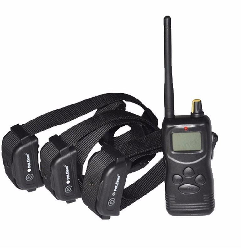 Petrainer PET900B3 E-Collar adiestramiento caza 3 Perros 1kilometro | Collar Adiestramiento tres perros