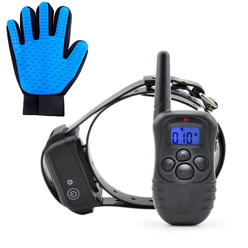 Petrainer X821-B Collar adiestramiento Sumergible y bateria litio + Regalo Guante quitapelos | Comprar Collar adiestramiento sumergible | venta collar adiestrar perros sumergible