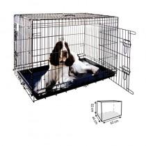 Jaula para perro 63cm Metálica Negra Plegable dos puertas, comprar jaula para perros pequeños, venta jaula perro pequeño, jaula de metal para perro