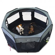 Parque de loneta para perros ligeros y desmontables