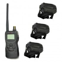 Petrainer PET9003 E- tres collares adiestramiento 3 perros 1000m Alcance | Collar adiestramiento triple