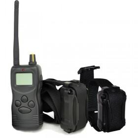 Collares adiestramiento para dos perros Dogsafe LCD 1000 Metros