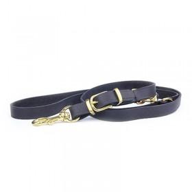 Correa Piel Gold Brass adiestramiento perros 220 cm