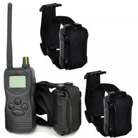 Collar adiestramiento para tres perros Dogsafe LCD 1000 Metros